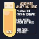 Cartoon Animiation USB