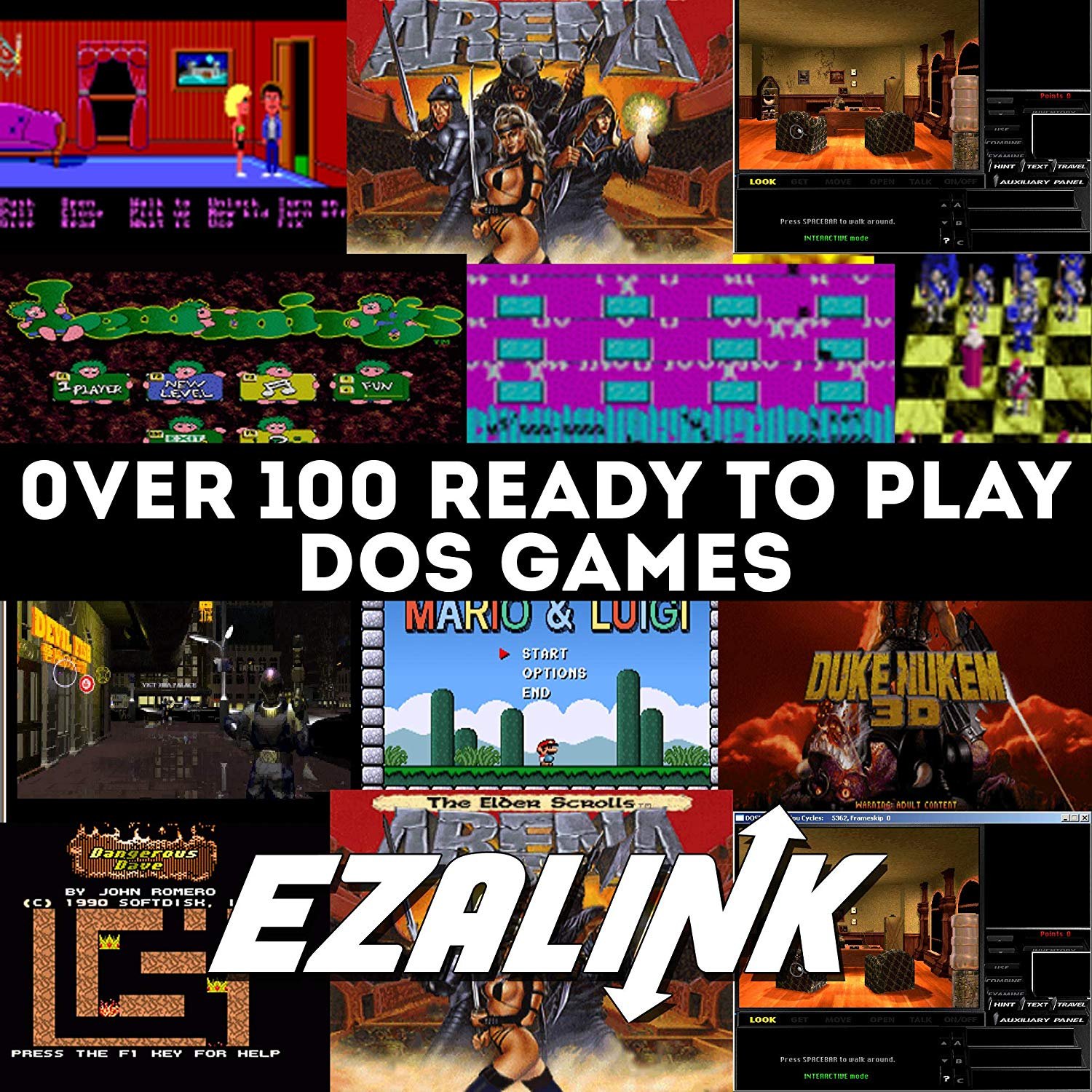 DOSBox Game Emulation CD with 100+ Playable Games, DOS Emulator PC Software  Games Bundle(100+ Compatible Games)