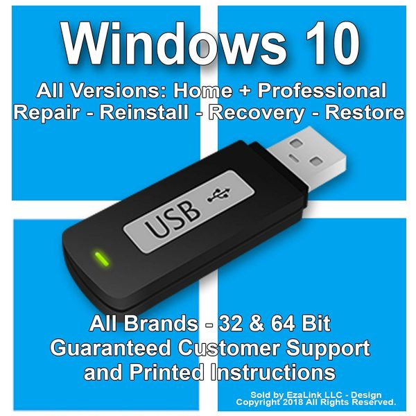 Windows 10 Reinstall Repair Recovery USB