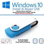 Windows 10 install repair recovery USB