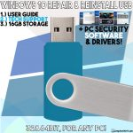 Windows 10 USB reinstall repair recovery